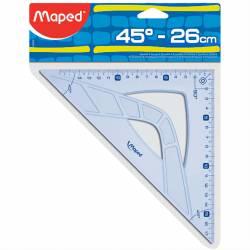 MAPED Geometrisches Quadrat 45° Hypotenuse 26 cm