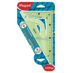 Maped - Equerre 60° - 21 cm Incassable