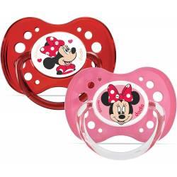 Lot de 2 Sucettes Anatomique Dodie Minnie Mouse +18 mois