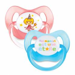 Lot of 2 Physiological Dodie Maman Etoile Pacifiers +18 months