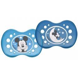 Lot de 2 Sucettes Anatomique Nuit Dodie Mickey Mouse +18 mois