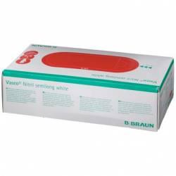 Boîte de 100 Gants en Nitrile Vasco Blanc L