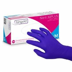 Box of 100 Nitrile 30 Plus Bingold M Gloves