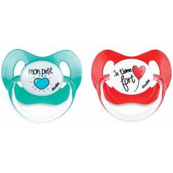 Set of 2 Physiological Lollipops Dodie I love you Strong +6 months