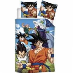 Housse de Couette Dragon Ball Super 140 x 200 cm + Taie d'Oreiller