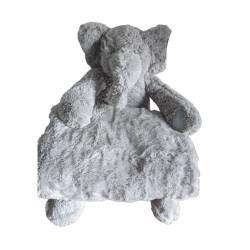 Peluche Elephant et Plaid Toudou Collection