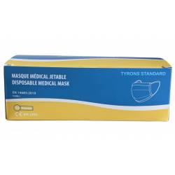 50 Masques Médicaux Jetable Bleu EN14683