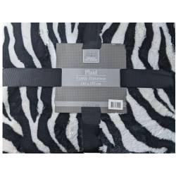 Zebra Interior Textile Throw 130 x 170 cm