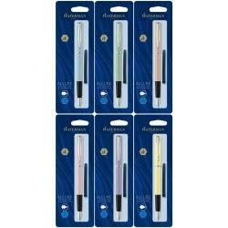 Waterman Paris fountain pens + 6 blue ink cartridges