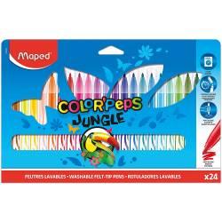 24 Feutres Lavables Maped Color'Peps Jungle
