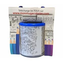 Blue Mug to color Drawing