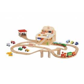 Sevi - Modélisme Ferroviaire - Circuit Gare et Trains en bois