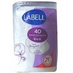 Makeup Remover Disc LABELL 40 maxi Oval Duo