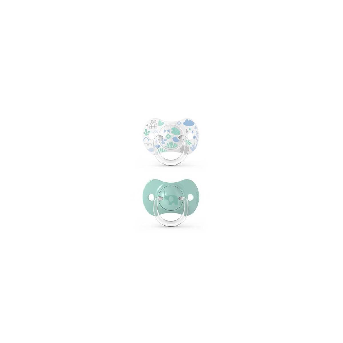Sucettes Suavinex Symétrique Sx Pro Memory Vert 6/18 mois