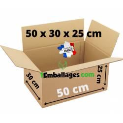 20 Cartons pour Déménagements 50X33X25 cm