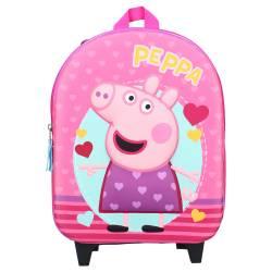 Peppa Pig 3D Rolling Backpack Pink 31 cm