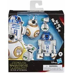 Figurines Star Wars R2-D2 BB-8 et D-0 12.5 cm Galaxy of Adventures
