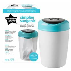 Simplee Sangenic poubelle à couches Tommee Tippee