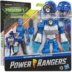 Figurine Power Rangers Blue Ranger et Morphin Smash Beastbot