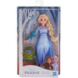 Poupée La Reine des Neiges 2 Elsa, Pabbie et Salamandre