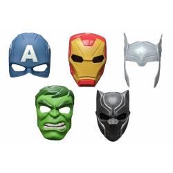 Máscaras de los Vengadores de Marvel - Iron Man, Pantera Negra, Capitán América