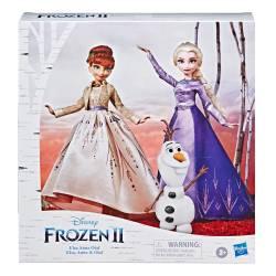 Coffret Poupée La Reine des Neiges 2 Elsa Anna et Olaf