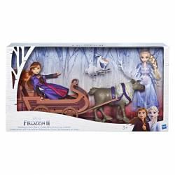 Cofanetto per bambole Frozen 2 Anna, Elsa, Sven e la sua slitta