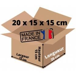 Carton d'expedition Simple Cannelure 20 x 15 x 15 cm Pour vos Petits Envois (100)