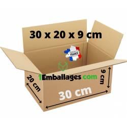 Cartons d'expeditions 300 x 200 x 90 mm pour petit objet plat, livres, jouets