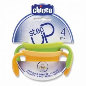 Chicco Lot de 2 Poignées Step Up Vert Jaune