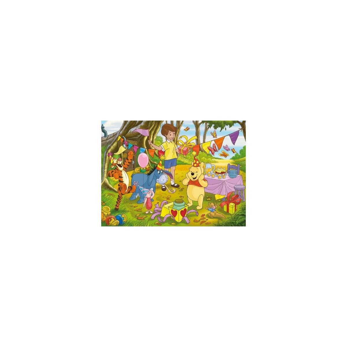 Clementoni - Puzzle 100 pièces - Winnie l'ourson - Happy Birthday