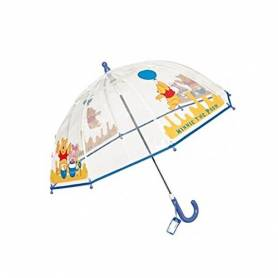 Parapluie bleu garçon Winnie l'Ourson Transparent