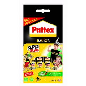 Pattex Junior - 10 Tubes de colle Transparent - super stick 11g