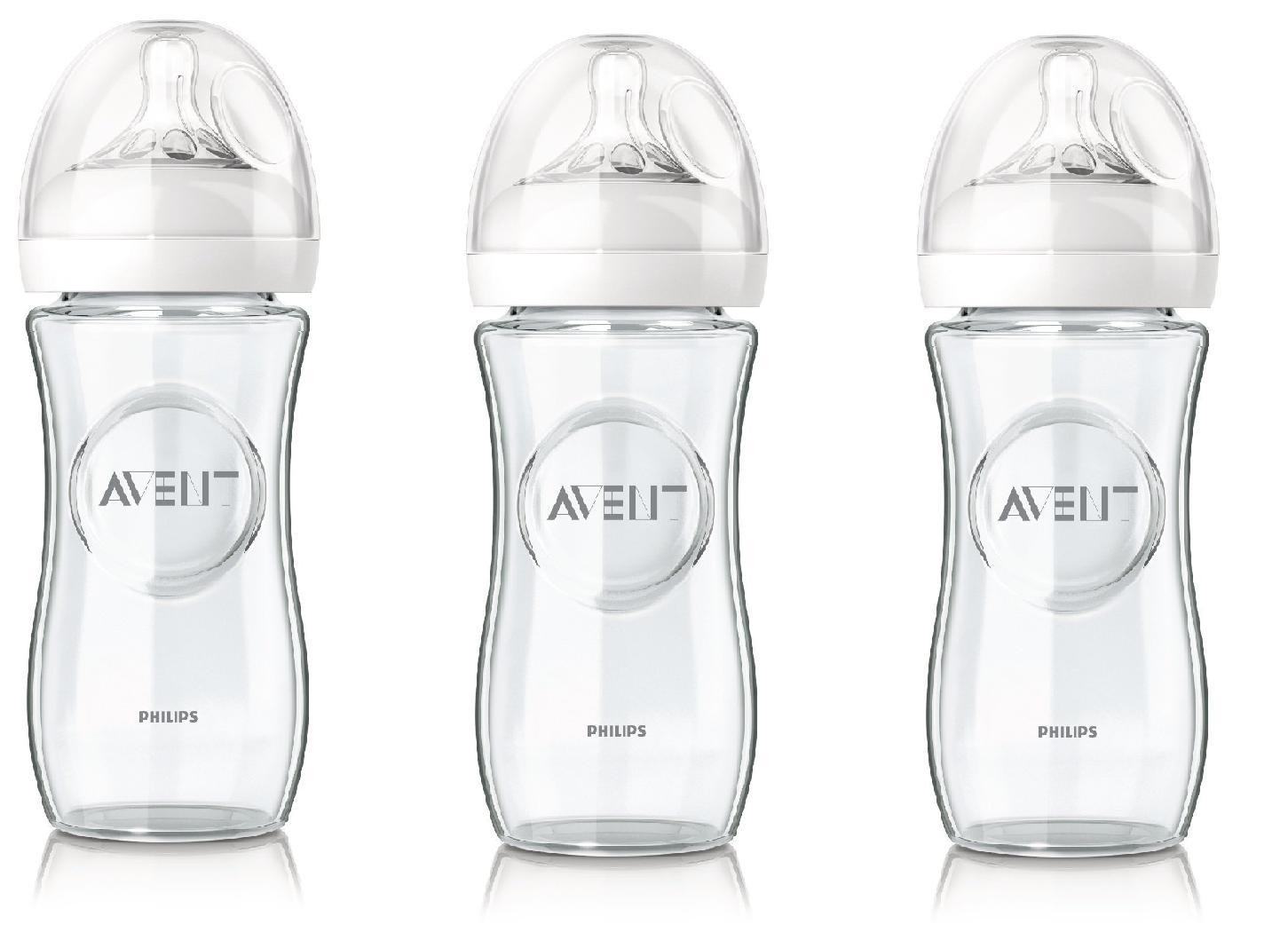 philips avent lot de 3 biberons verre natural 240 ml paris. Black Bedroom Furniture Sets. Home Design Ideas