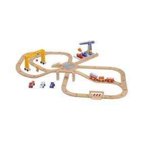 Sevi - 82547 - Modélisme Ferroviaire - Circuit Gare de Marchandises en bois