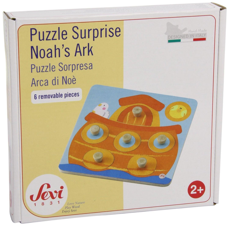 Sevi - Puzzle en bois - Surprise Arche de Noé - 2 ans +