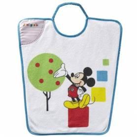 """Bavoir Maternelle à encolure elastique Mickey Splendide """"Je M'appelle"""" - 35 x 38 cm"""