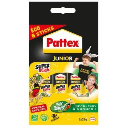 Pattex Super stick Tube de colle Transparent - Super stick 22g - lot de 6