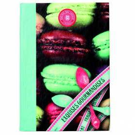 Carnet d'adresses SIGN 72 pages - Macarons - 15 x 10,8 cm