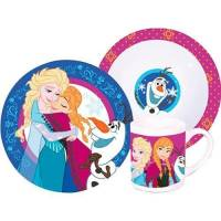 La Reine des Neiges - Set dejeuner 3 pieces - ceramique - Frozen