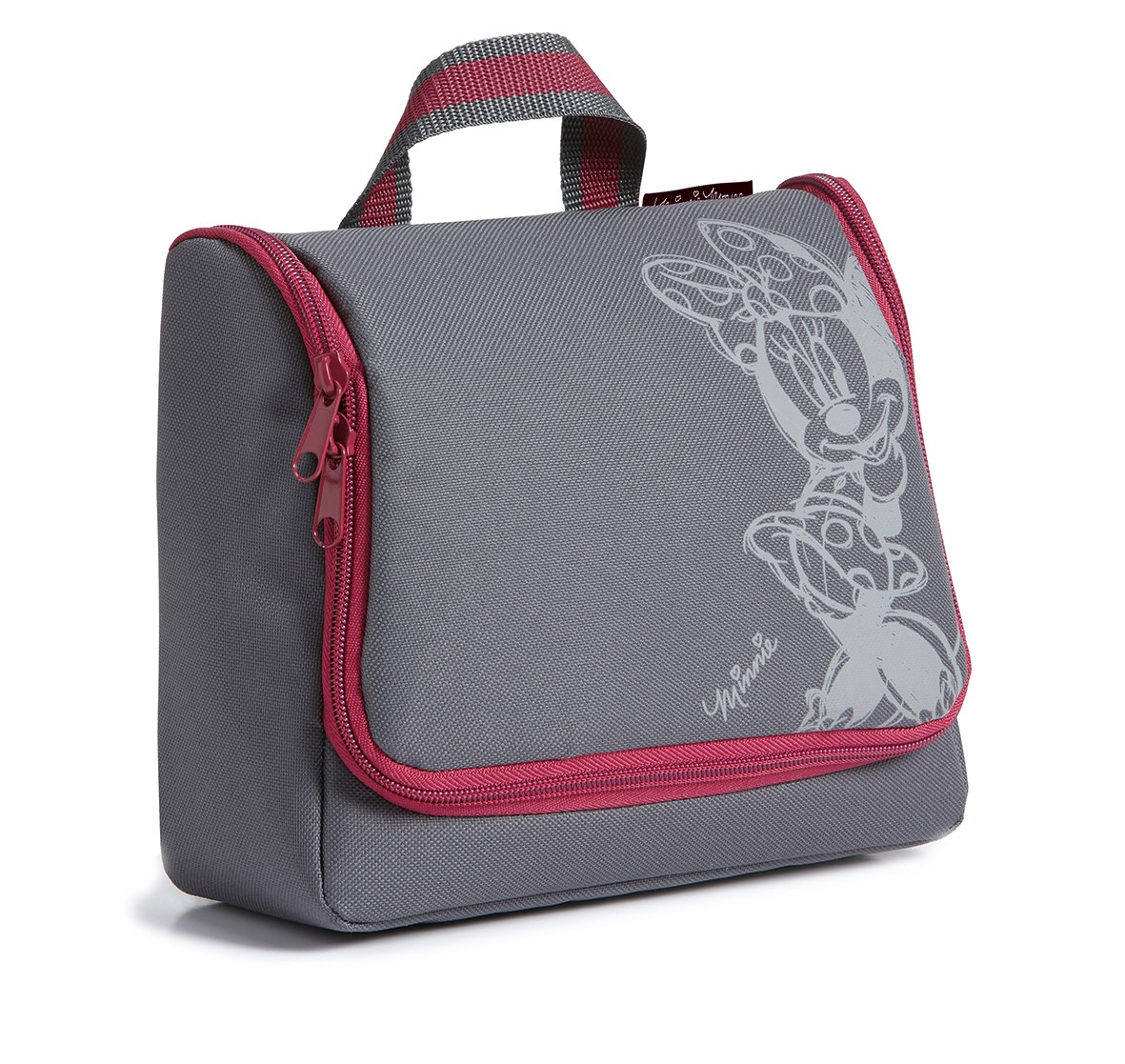 minnie trousse de toilette de voyage grise et rose 23x20x10cm. Black Bedroom Furniture Sets. Home Design Ideas