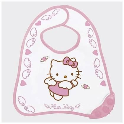 Bavoir Hello Kitty - bord à mordiller spécial poussé dentaire