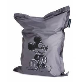 Geant Pouf - Siège poire Mickey Mouse gris - 100 x 135 cm