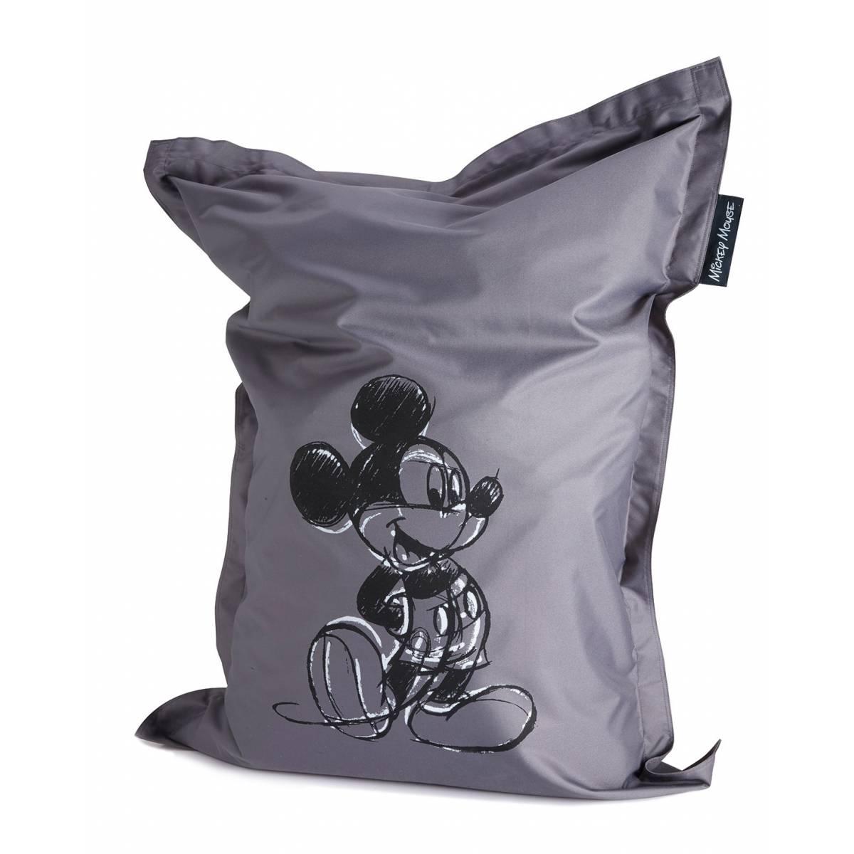 Pouf - Siège poire Mickey Mouse gris - 100 x 135 cm