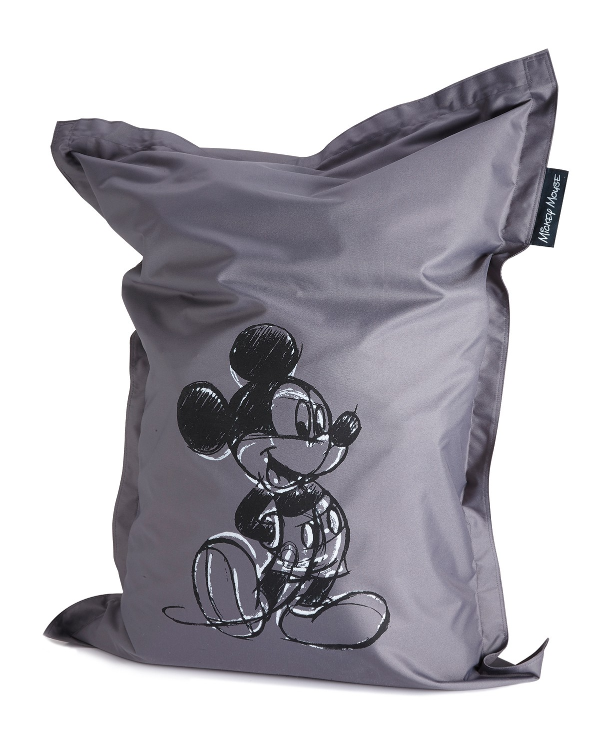 grand pouf si ge poire mickey mouse gris 100 x 135 cm. Black Bedroom Furniture Sets. Home Design Ideas
