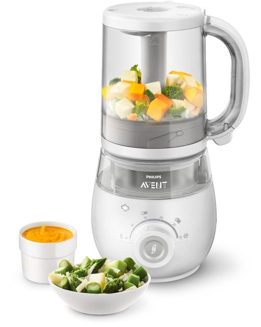 Philips Avent Robot Mixeur Baby Repas 4 en 1 Blanc