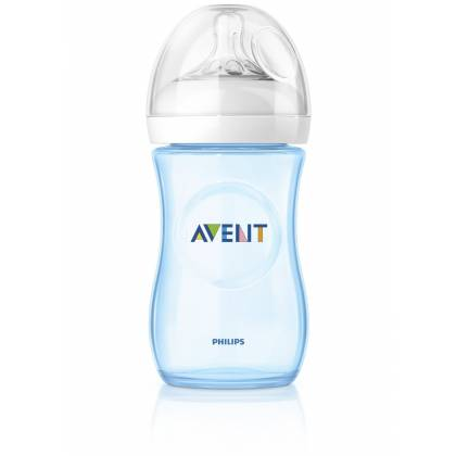 Philips AVENT - Biberon naturel débit lent 260 ml - bleu