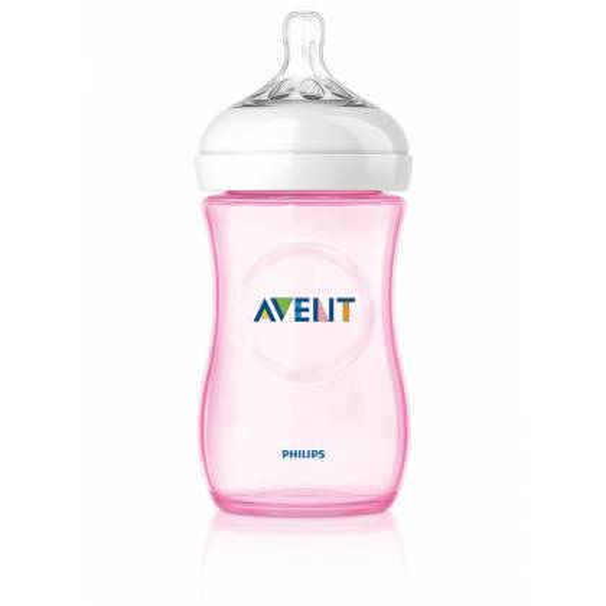 Philips AVENT - Biberon naturel débit lent 260 ml - rose