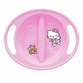 Hello Kitty - Assiette Micro-onde Bébé Rose