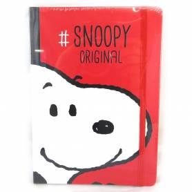 Snoopy| Carnet rouge A5 - 96 pages lignées